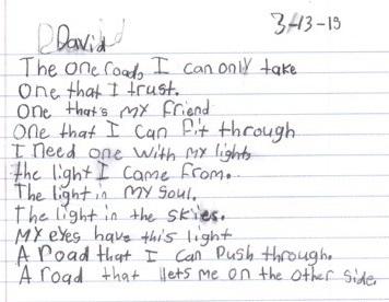 David-writing